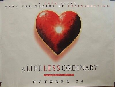 A LIFE LESS ORDINARY(1997)Original rolled UK quad movie poster UK POST FREE