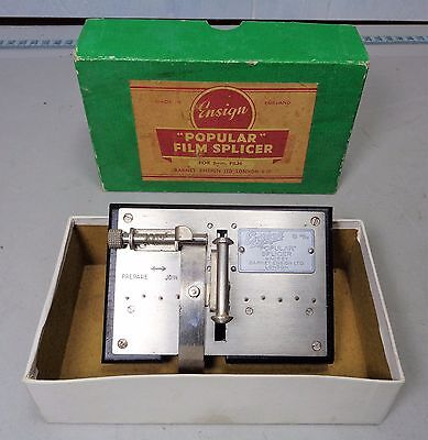 Vintage Boxed Good condition 'Ensign' Popular 8mm Film Splicer