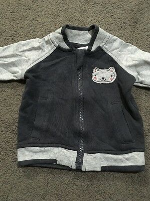Baby Boys Long Sleeve Zip Up Jacket Size 00 EUC