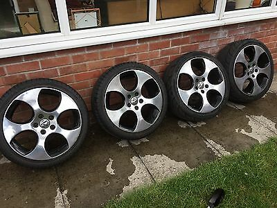 VW Monza alloy wheels and tyres 18inch Diamond Cut