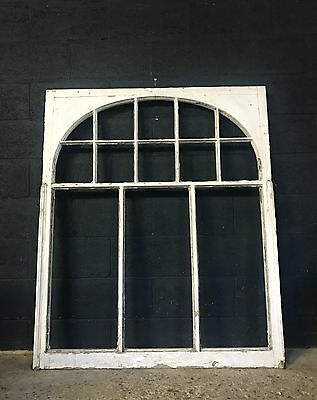 Vintage Antique Large Architectural Original Painted Window Frame