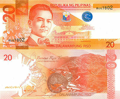 Philippines 20 Piso (2010) - Colorful note with Civit/p206a UNC