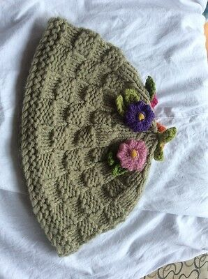 Tea Cosy Green Pink Red Handmade Knitted Wool