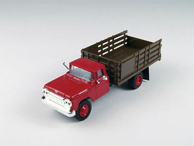 Classic Metal Works #30413 1960 Ford Stake Bed Truck - Monte Carlo Red  HO SCALE
