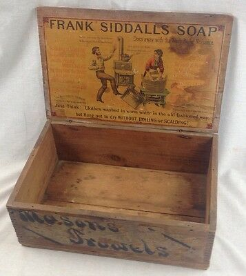 Antique Counter Display Frank Siddalls Soap Box Crate Store Advertising wood