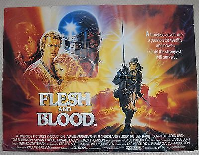 Flesh and Blood, Original UK Quad Poster, Rutger Hauer, '85