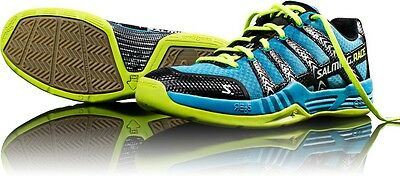 BRAND NEW Salming Race R1 Autumn Eft Men's Court Shoes Cyan/Flyel