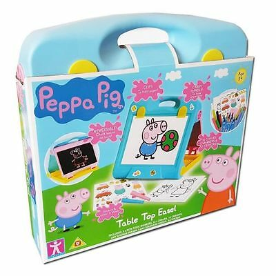 New Peppa Pig Table Top Creative Drawing Activity Easel Playset Age 3+