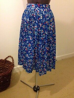 vintage 70s marks and spencer st michael floral pleated skirt size XS /S