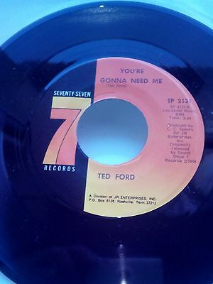 """Ted Ford """"you're Gonna Need Me"""""""