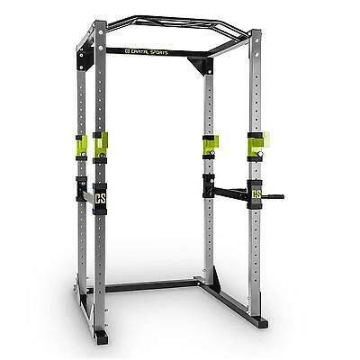 Power Steel Rack Square Weight Lifting Multi Gym Home Pull Ups Squat Bench Press