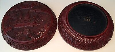 Charming,antique Chinese Old Cinnabar Lacquer Covered Box.