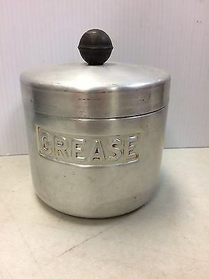 Vintage Aluminum Grease Kitchen Canister Turner Mfg Houston Texas Strainer