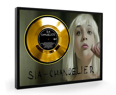 Sia Chandelier Framed Gold Disc Display Vinyl ( C1 )