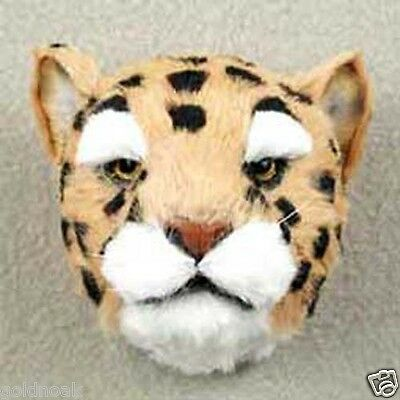 REALISTIC MEDIUM SIZE LEOPARD HEAD-Fur Magnets! (Handcrafted & Hand painted.