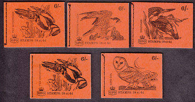 1968/69 6/- Bird Series Booklets X 5 Different
