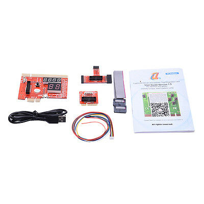PCI/PCIE/LPC/MINIPCI-E/EC USB PC Diagnostic Post Test Debug Card + LPC Cable PU