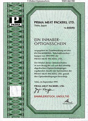Lot 10 X Prima Meat Packers, Ltd. 1er-OS 1991