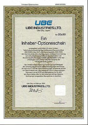 Lot 10 X UBE Industries, Ltd. 1er-OS 1991