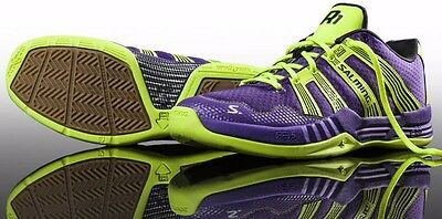 BRAND NEW Salming Race R1 2.0 Mens Court Shoes - Purple