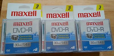 Lot of 48 16 X 3-Pack Maxwell DVD-R Camcorder 30 min. 1.4 GB (16) 3 packs