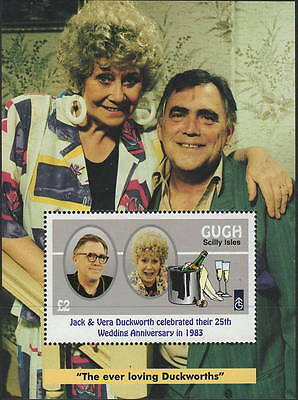 "Gugh (Scilly Isles) 1995 35th anniversary of ""Coronation Street"" £2 m/s MNH"