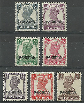 Pakistan - GVI India o/ps - SG1/6 & 9 - LMM