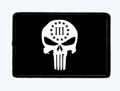 Punisher III%  Morale Patch Tactical Hook And Loop. American Seller