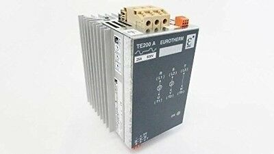 EUROTHERM TE200A 500V 25A Din Rail Mouned 3PH 2 Leg SCR Power Controller