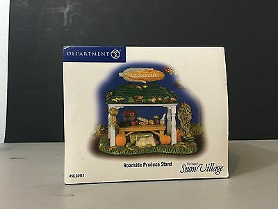 Roadside Produce Stand Department Dept. 56 Snow Village New!!
