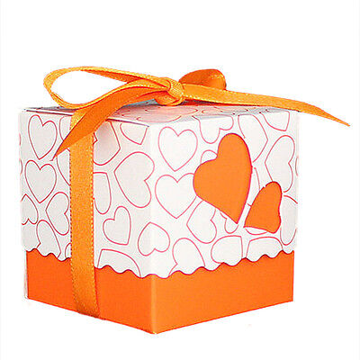 H19 30pcs Love Heart Small Laser Cut Gift Candy Boxes Wedding Party Favor Candy