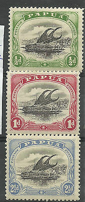 Papua - Three 'two colour' definitives - SG60/2 - VLMM - Cat £42