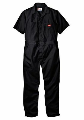 New Dickies 33999Bk L/tl Coveralls Short Sleeve Mens Black Size Large Tl