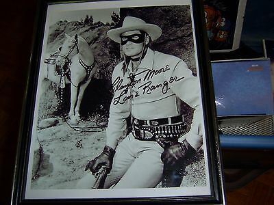 The Lone Ranger Autograph Pic Reproduction 8X10 Clayton Moore