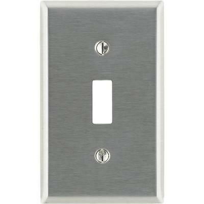 200 Pk Leviton Stainless Steel Single Toggle Switch Wall Plate Cover 003-84001