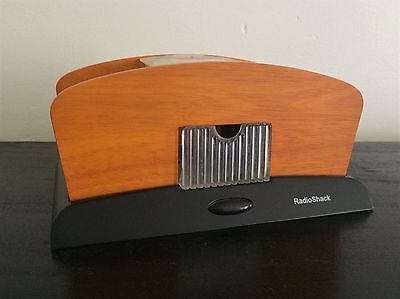 Radio Shack Deluxe Automatic Card Shuffler Wood Battery Operated