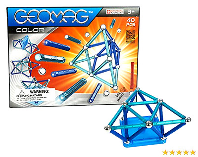 Geomag 40-Piece Color Construction Set with Assorted Panels   Mentally Stimul