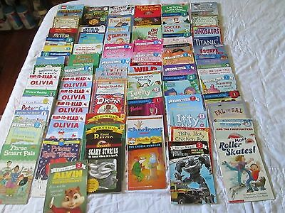 HUGE LOT OF 74 readers Children's Book Level 1 2 3 I Can Read Scholastic easy AR
