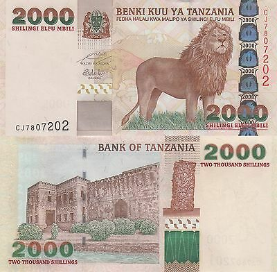 Tanzania 2000 Shillings (ND/2009) - Lion/Fortress/p37b Sig. 15 UNC