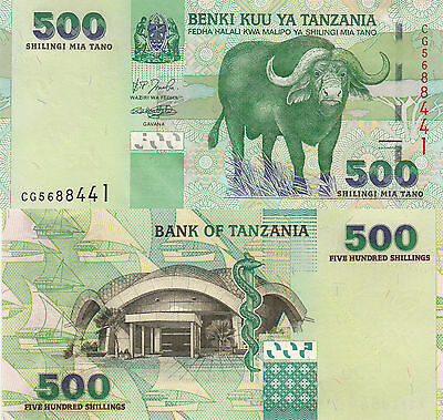 Tanzania 500 Shillings (2003) - Water Buffalo/p35 UNC