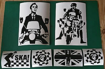 Large quadrophenia Jimmy ska Two Tone Stickers x6 Mod Ska northen soul