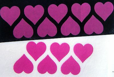 iron on hearts 40 neon magenta for fabric 25mm.size printing iron on transfers