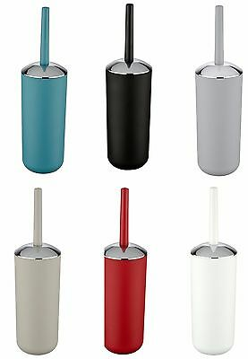 Wenko Brasil Toilet Brush & Holder - Black White Blue Red Grey Taupe