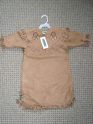 Baby Toddler Pocahontas Dress Native Fringed Outfit Indian Costume NWT 4T