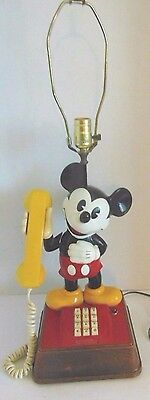 Rare Mickey Mouse Hotel Phone Lamp Light Up Call Button 1970
