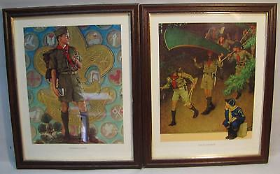 Framed Norman Rockwell Boy Scout Picture Lot