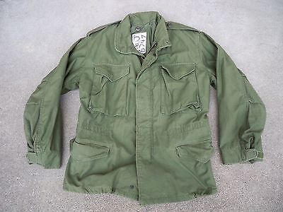 Vintage US Army Vietnam War Mens Field Cold Weather Coat Jacket Size Small Short