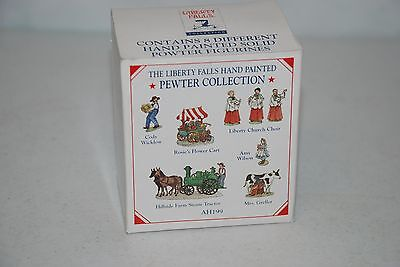 1999 Liberty Falls Americana Collection Hand-Painted Pewter Figurine Set AH199