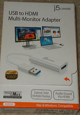 j5Create USB 3.0 to HDMI Display JUA254 for Mac and Windows Brand New Unopened
