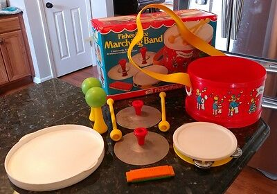 Vintage 1979 Fisher Price Marching Band Toy Drum Set #921 with Box!